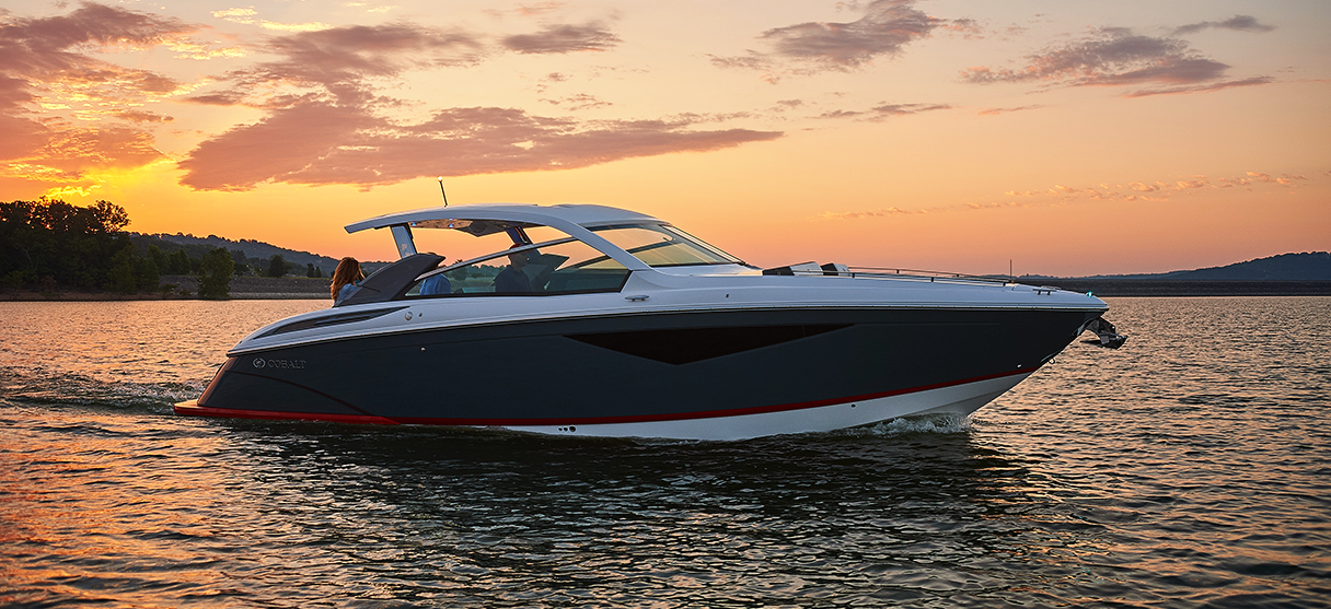 Cobalt A Series A36 on Lake Cruise During Sunset