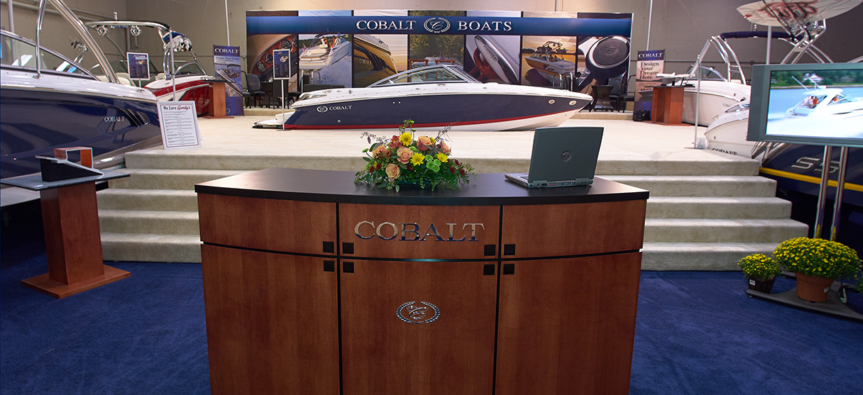 Cobalt Boats Booth Entrance at the Tampa Bay Boat Show