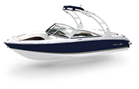 Cobalt 10 Series 220S Navy and Sandstone Rendering