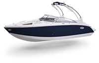 Cobalt Surf Series R3 Navy and White Rendering
