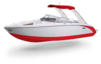 Cobalt Surf Series R5 White and Knockout Red Rendering